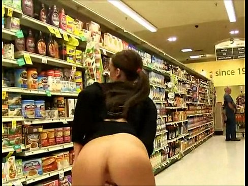 Naked grocery store flash