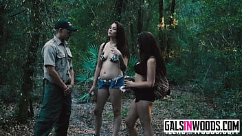 Naked girls stuck in the jungle