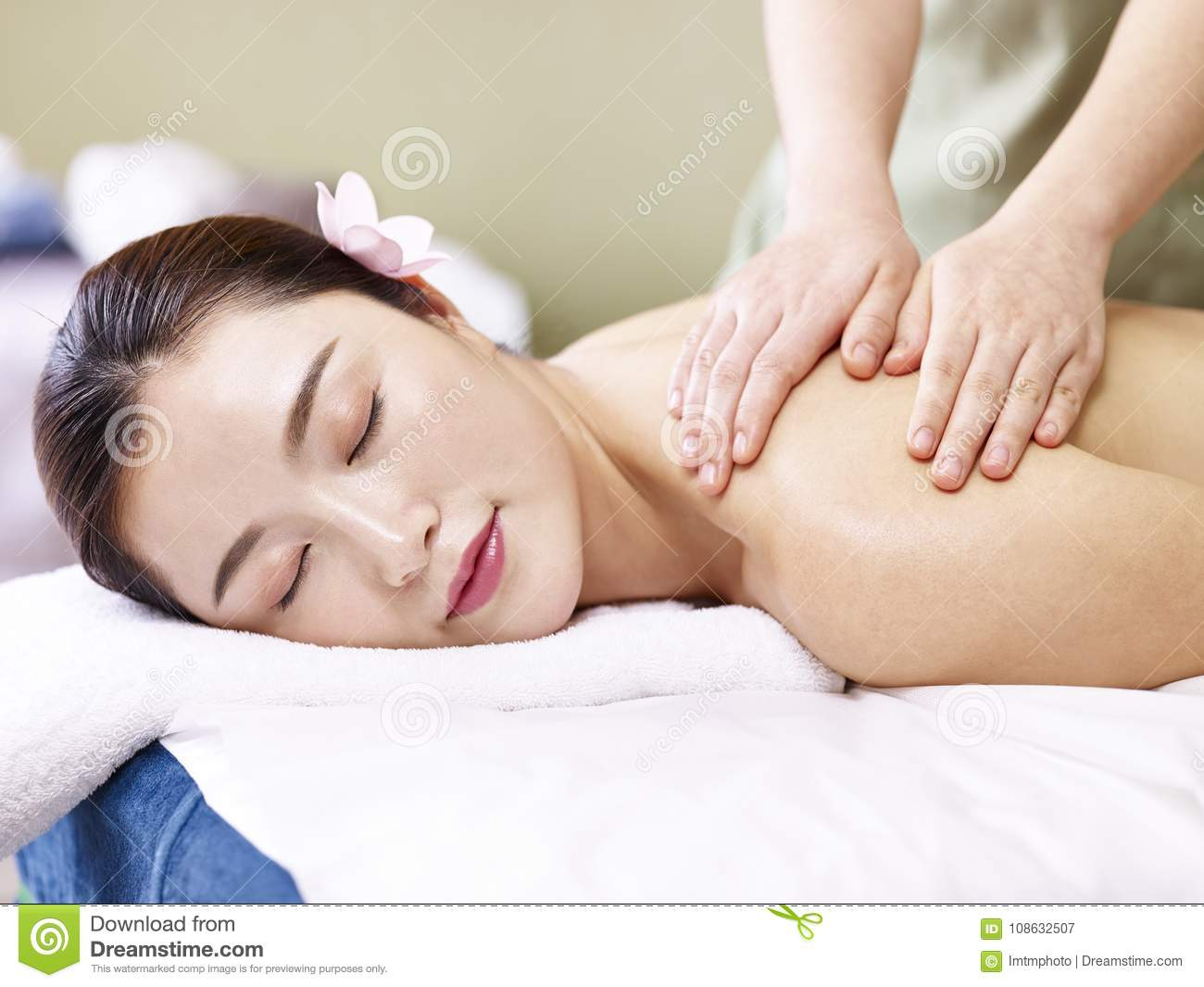 Young asian massage