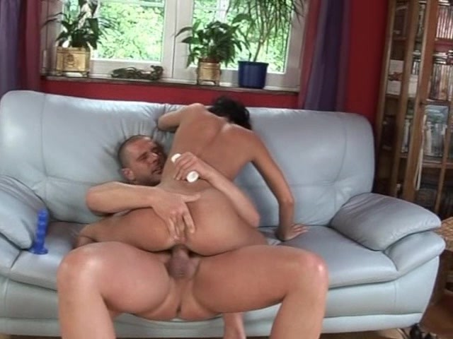 Girl sat on a penis