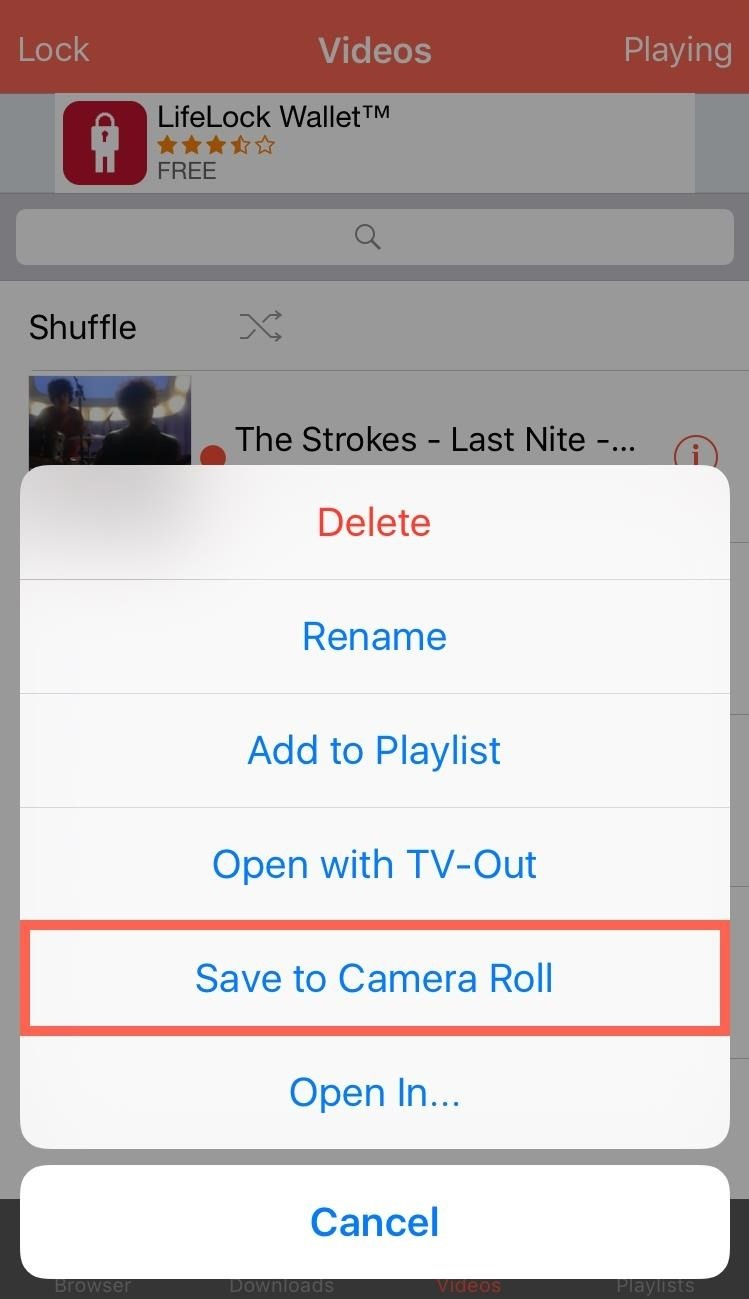 Save music from youtube app